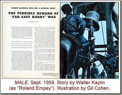 03 - KAYLIN - MALE, Sept 1959 Walter Kaylin, art by Gil Cohen