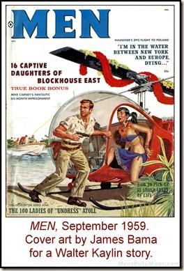 05 - MEN, Sept 1959. Walter Kaylin, art by James Bama