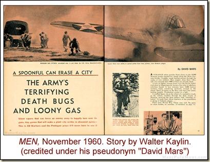 07 - MEN, Nov 1960 - Walter Kaylin story as David Mars