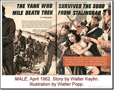 08 - MALE, April 1962, Walter Kaylin, Walter Popp art