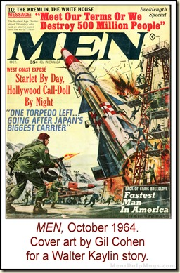 10 - MEN, Oct 1964, art by Gil Cohen for Walter Kaylin story