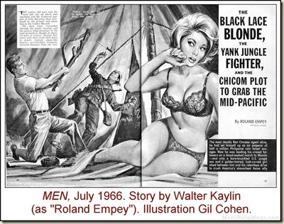 12 - MEN, July 1966. Walter Kaylin story, Gil Cohen art