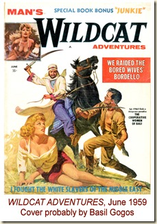 WILDCAT ADVENTURES, June 1959. Basil Gogos cover