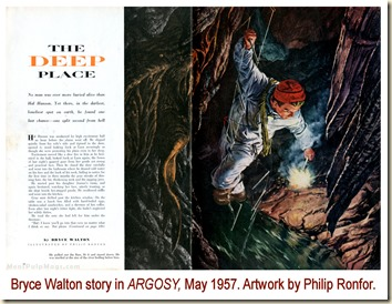 ARGOSY, May 1957. Bryce Walton story, Philip Ronfor art WM2
