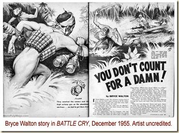 BATTLE CRY, Dec 1955. Bryce Walton story
