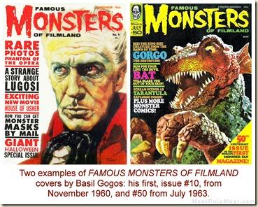 Basil Gogos Famous Monsters of Filmland #9 & #50 WM