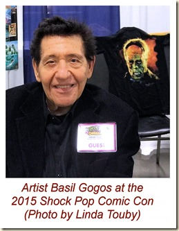 Basil Gogos at 2015 Shock Pop Comic Con, Photo by Linda Touby