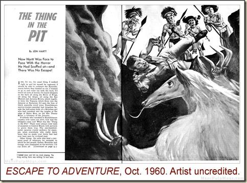 ESCAPE TO ADVENTURE, Oct 1960. Artist uncredited WM