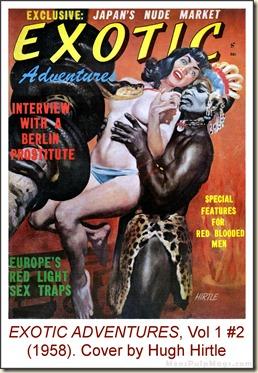 EXOTIC ADVENTURES, Vol. 1, No. 2 (1958), cover by Hugh Hirtle