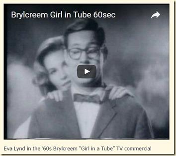 Eva Lynd in Brylcreem Girl in the Tube ad 2