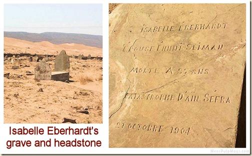 Isabelle Eberhardt's grave & headstone