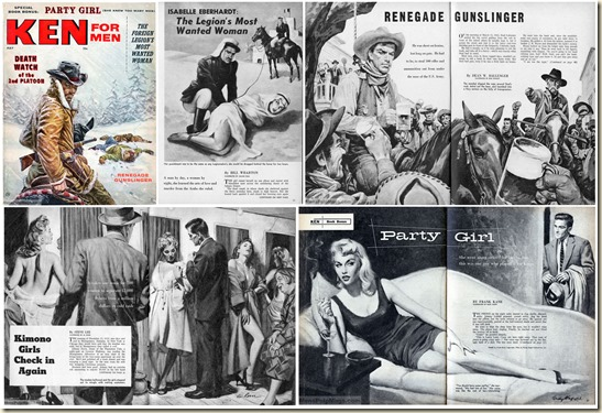 KEN FOR MEN, May 1957. Contents collage 2