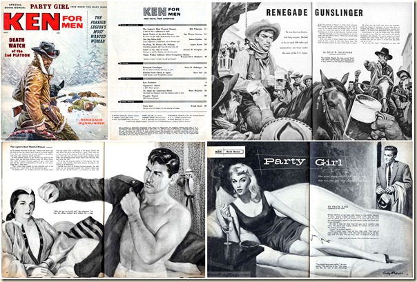 KEN FOR MEN, May 1957. Contents collage V2