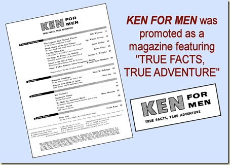 KEN FOR MEN, May 1957 - contents page REV2