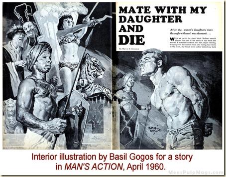 MAN'S ACTION, April 1960. Basil Gogos interior WM