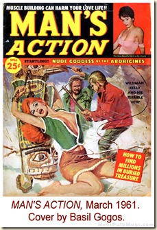 MAN'S ACTION, March 1961. Cover by Basil Gogos