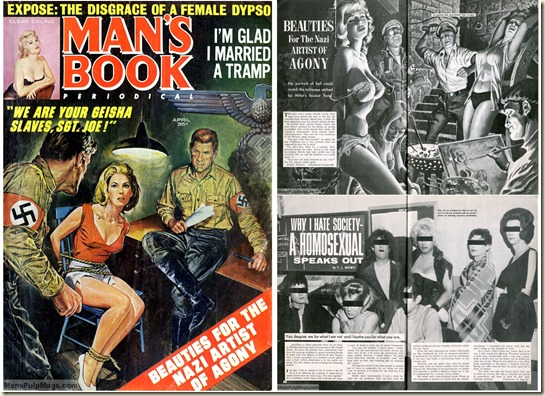 MAN'S BOOK, April 1967, cover and two stories