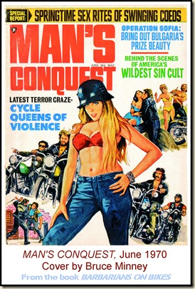 MAN'S CONQUEST, June 1970, Cover by Bruce Minney