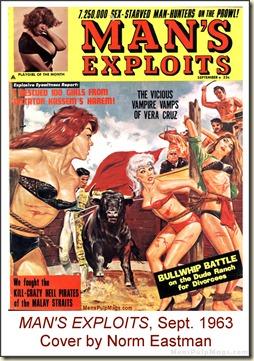 MAN'S EXPLOITS, Sept. 1963, Norm Eastman cover