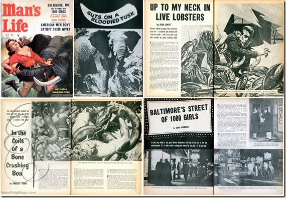 MAN'S LIFE July 1957 - collage