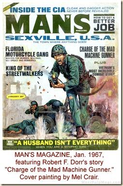 MAN'S MAGAZINE. Jan 1967. Cover by Mel Crair WM