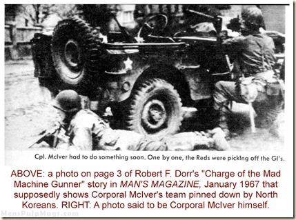 MAN'S MAGAZINE, Jan 1967. Robert F Dorr Mad Machine Gunner p3cu1 WM