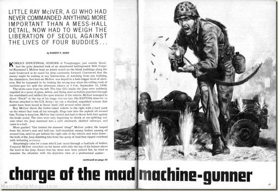 MAN'S MAGAZINE, Jan 1967. Robert F Dorr, Mel Crair BW WM