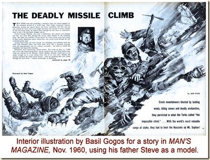 MAN'S MAGAZINE, Nov 1960. Basil Gogos REV