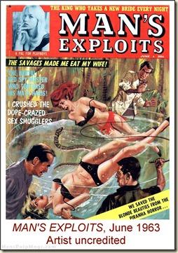 MAN'S EXPLOITS, June 1963, artist uncredited