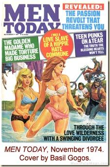 MEN TODAY, Nov 1974. Basil Gogos cover