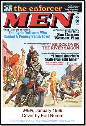MEN, Jan 1969, cover by Earl Norem