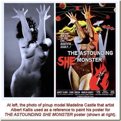 Madeline Castle photo & Astounding She Monster poster by Albert Kallis