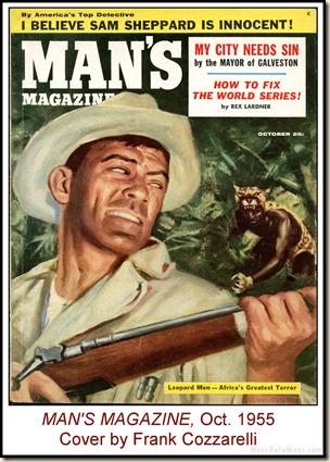 Man's Magazine, Oct 1955, Cover by Frank Cozzarelli WM2