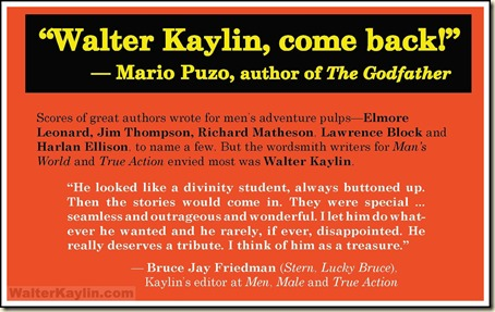 Mario Puzo quote about Walter Kaylin