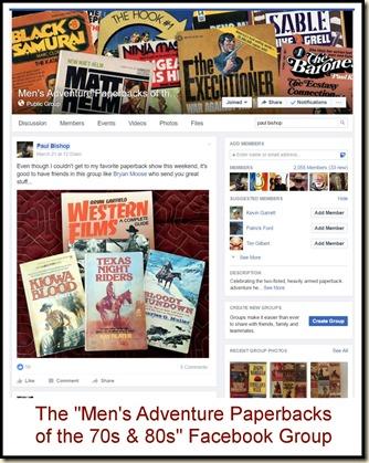 Men's Adventure Paperbacks Facebook Group