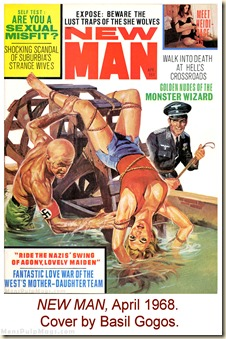 NEW MAN, April 1968. Cover by Basil Gogos