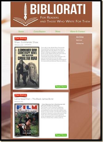 Paul Bishop post on Bibliorati blog
