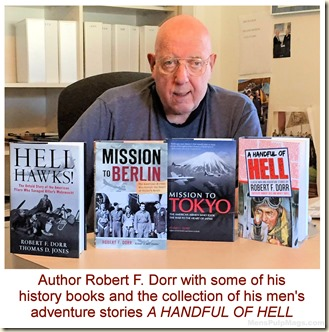 Robert F. Dorr with 4 of his books. CAPTIONED2