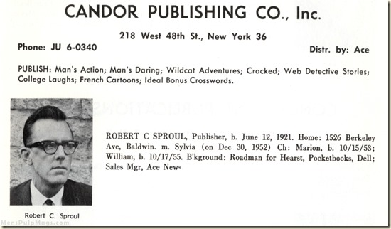 Robert Sproul in WHO'S WHO IN MAGAZINE DISTRIBUTION (1960)