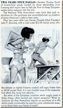 STAG, December 1965, gun bra illustration-8x6