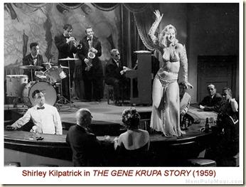 Shirley Kilpatrick in THE GENE KRUPA STORY (1959) still