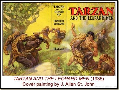 TARZAN & THE LEOPARD MEN, J. Allen St. John art