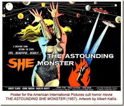 THE ASTOUNDING SHE MONSTER (1957) poster by Albert Kallis