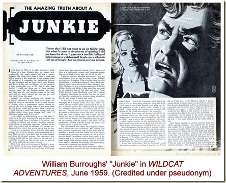 WILDCAT ADVENTURES June 1959, William Burroughs Junkie as William Lee