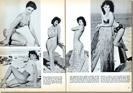 WILDCAT ADVENTURES, June1959 - cheesecake Shirley Kilpatrick 2pg WM