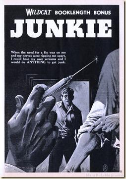 WILDCAT ADVENTURES, June 1959. William Burroughs Junkie (as William-Willam Lee) WM