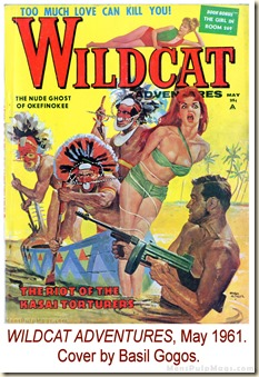 WILDCAT ADVENTURES, May 1961. Cover by Basil Gogos WM