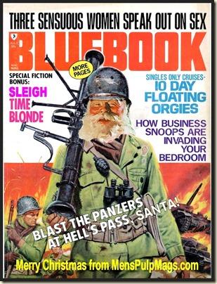 BLUEBOOK, July 1971 Xmas spoof, Mel Crair art REV