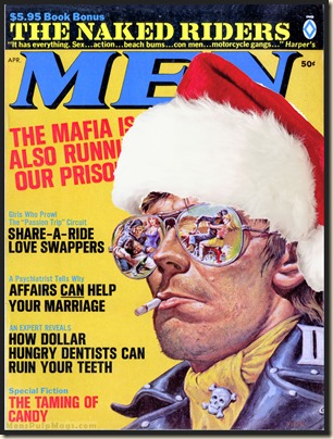 MEN, April 1969 Xmas spoof, Earl Norem art REV