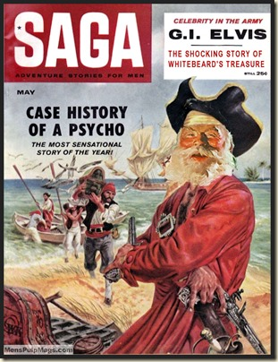 SAGA, May 1959 Xmas spoof, Tom Beecham art REV